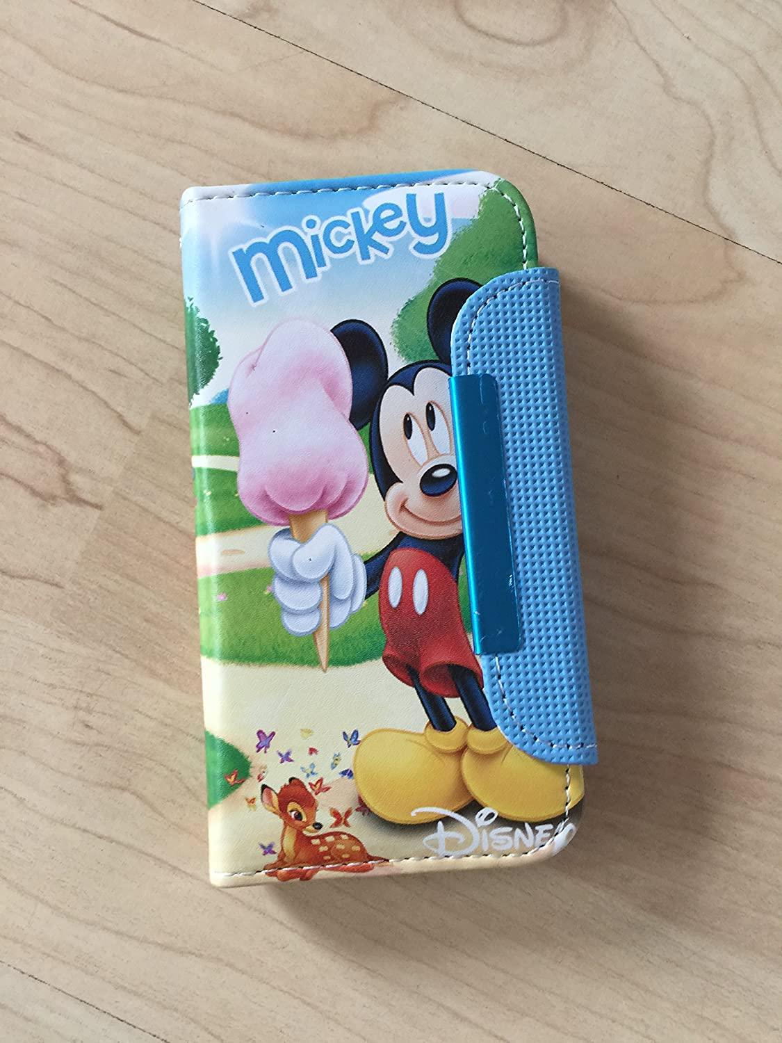 big sale 1358f 964f9 Mickey & Minnie Mouse Pu Leather Case Wallet For IPHONE 5 /5s US Seller #27