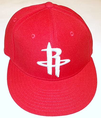 0b7ce895d28bf Image Unavailable. Image not available for. Color  NBA adidas Houston  Rockets Flat Bill Fitted Hat - Red ...