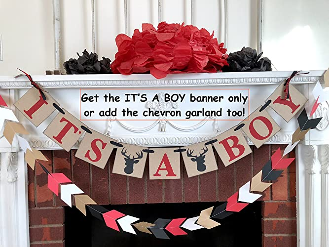Amazon Little Buck Baby Shower Decorations Red And Black Oh