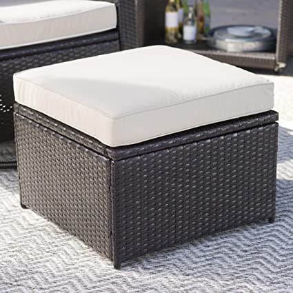 Outstanding Coral Coast Berea Outdoor Wicker Storage Ottoman Machost Co Dining Chair Design Ideas Machostcouk