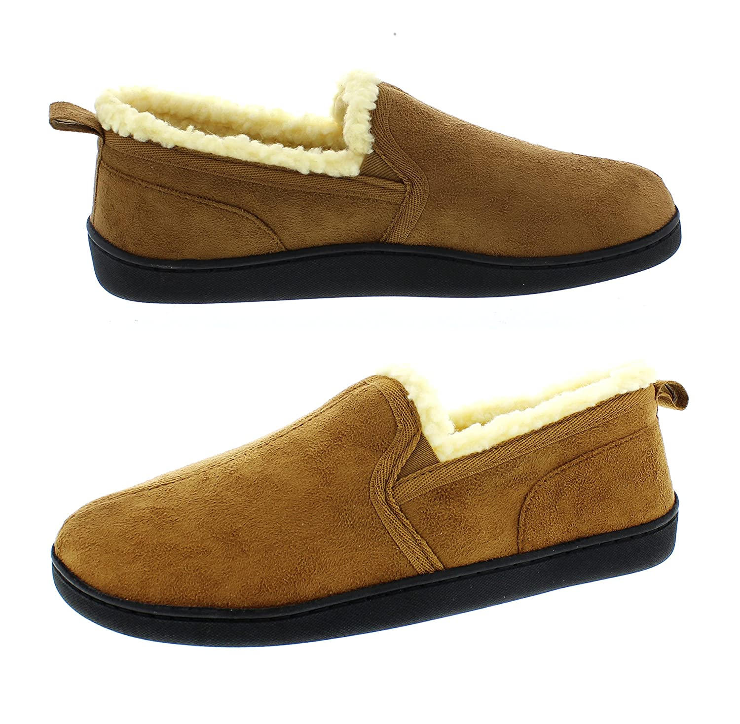 2b7625d9cb384 Amazon.com   Gold Toe Mens Moccasin House Shoes, Indoor Outdoor Bedroom  Slippers for Men, Memory Foam   Slippers