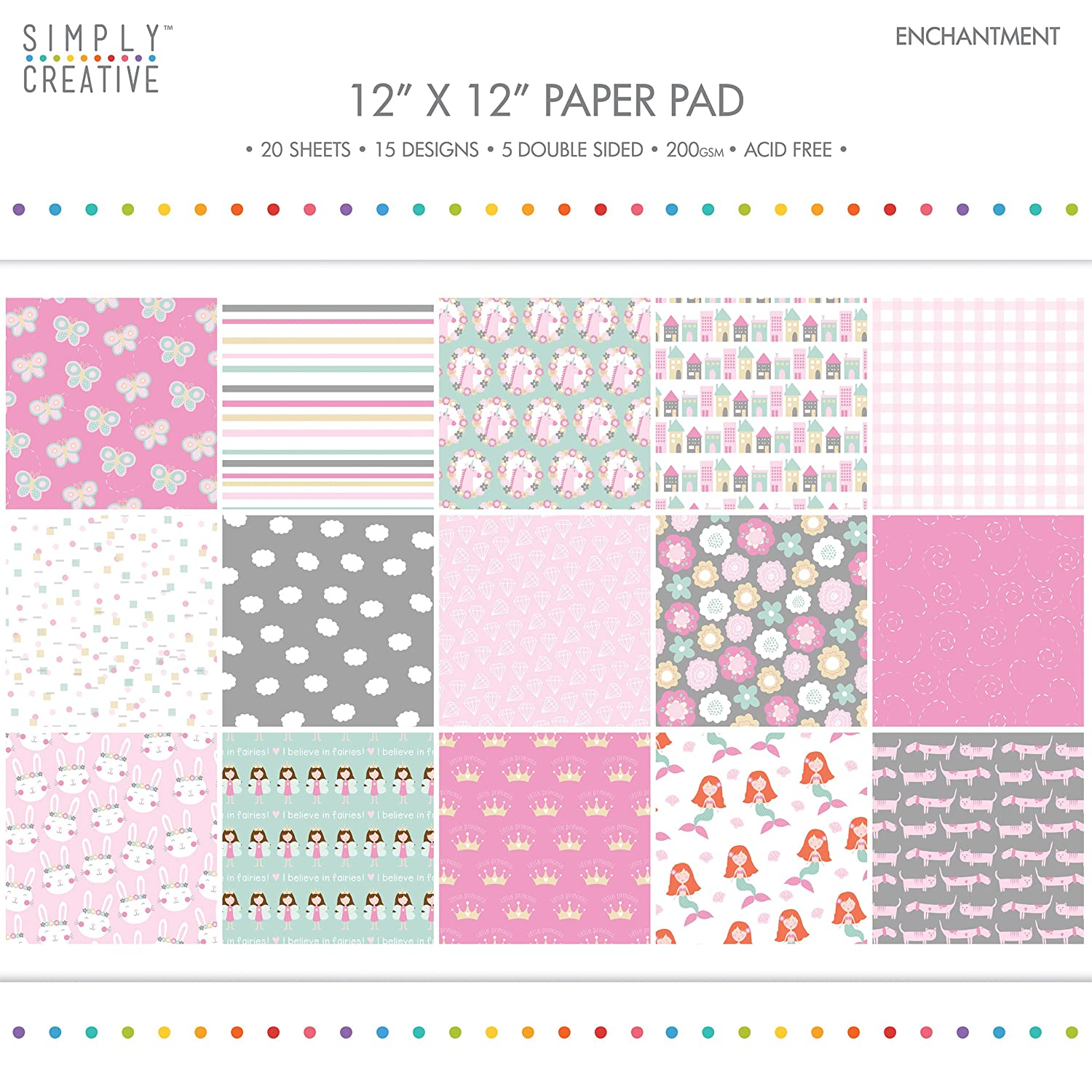 Simply Creative Enchantment Paper Pad 6X6 (15 Designs, FSC) Trimcraft SCPAD076