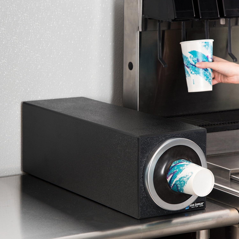 San Jamar C2901 EZ-Fit Dimension Polystyrene Beverage Dispenser Cabinet with Metal Finish Trim Ring 7-3//4 Width x 7-3//4 Height x 23-3//4 Depth 7-3//4 Width x 7-3//4 Height x 23-3//4 Depth