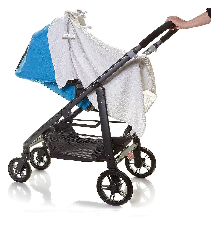 Blue, Pack of 4 Dreambaby Strollerbuddy Stroller//Pram Clips