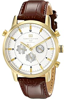 5d2edaad0 Amazon.com: Tommy Hilfiger Men's 1710294 Stainless Steel Watch with ...