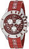 Christian Dior Women's CD11431BR001 Christal Chronograph Diamond Red Dial Watch