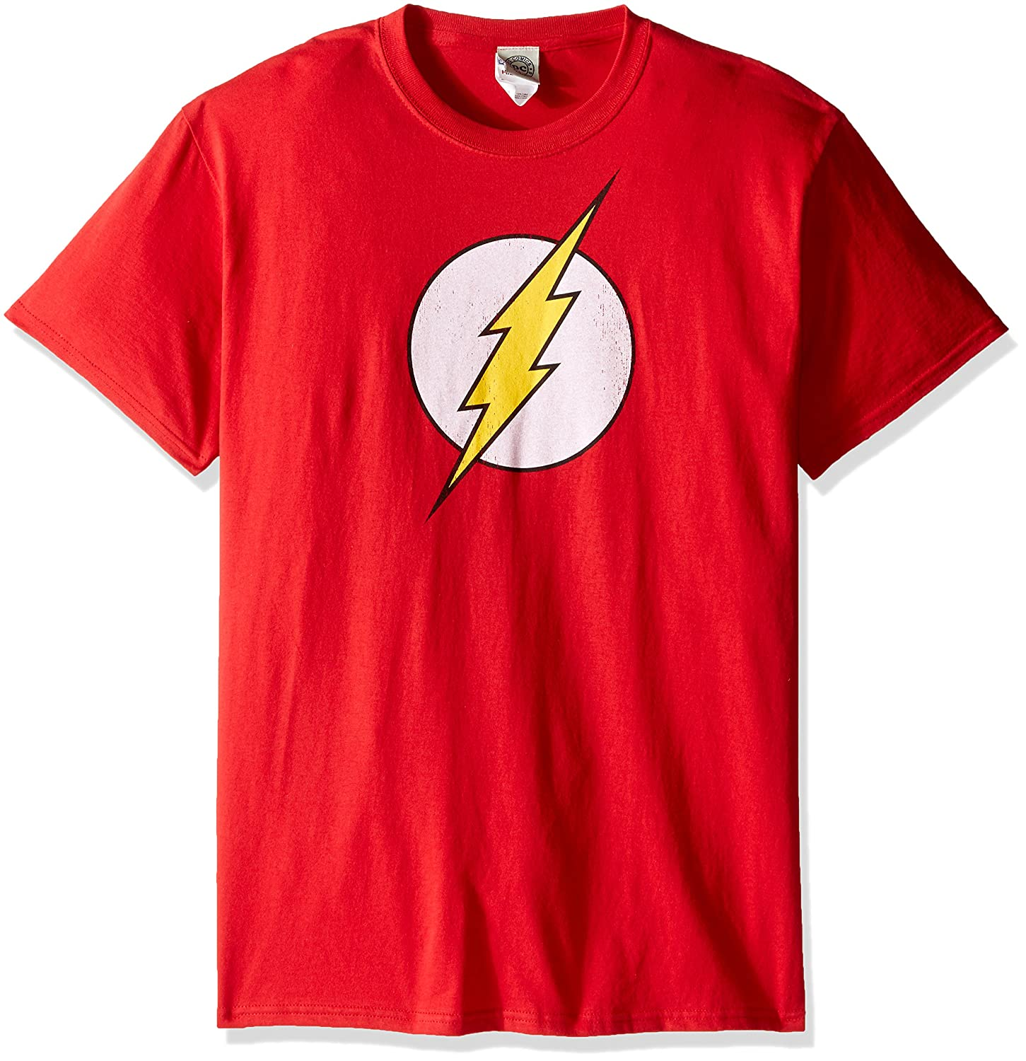 DC Comics Mens The Flash Logo T-Shirt Trevco Child Code DCO263-AT