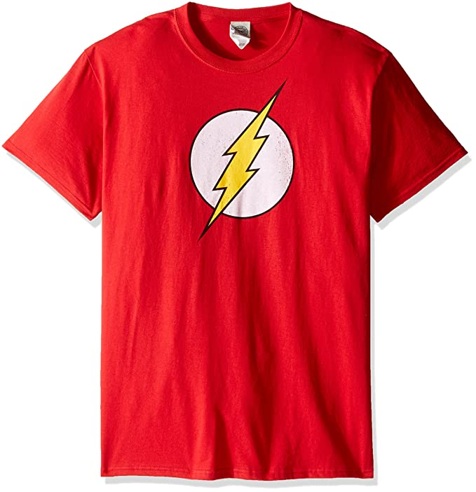 eb0f2a26adf DC Comics Mens The Flash Logo T-Shirt T-Shirt  Amazon.ca  Clothing ...