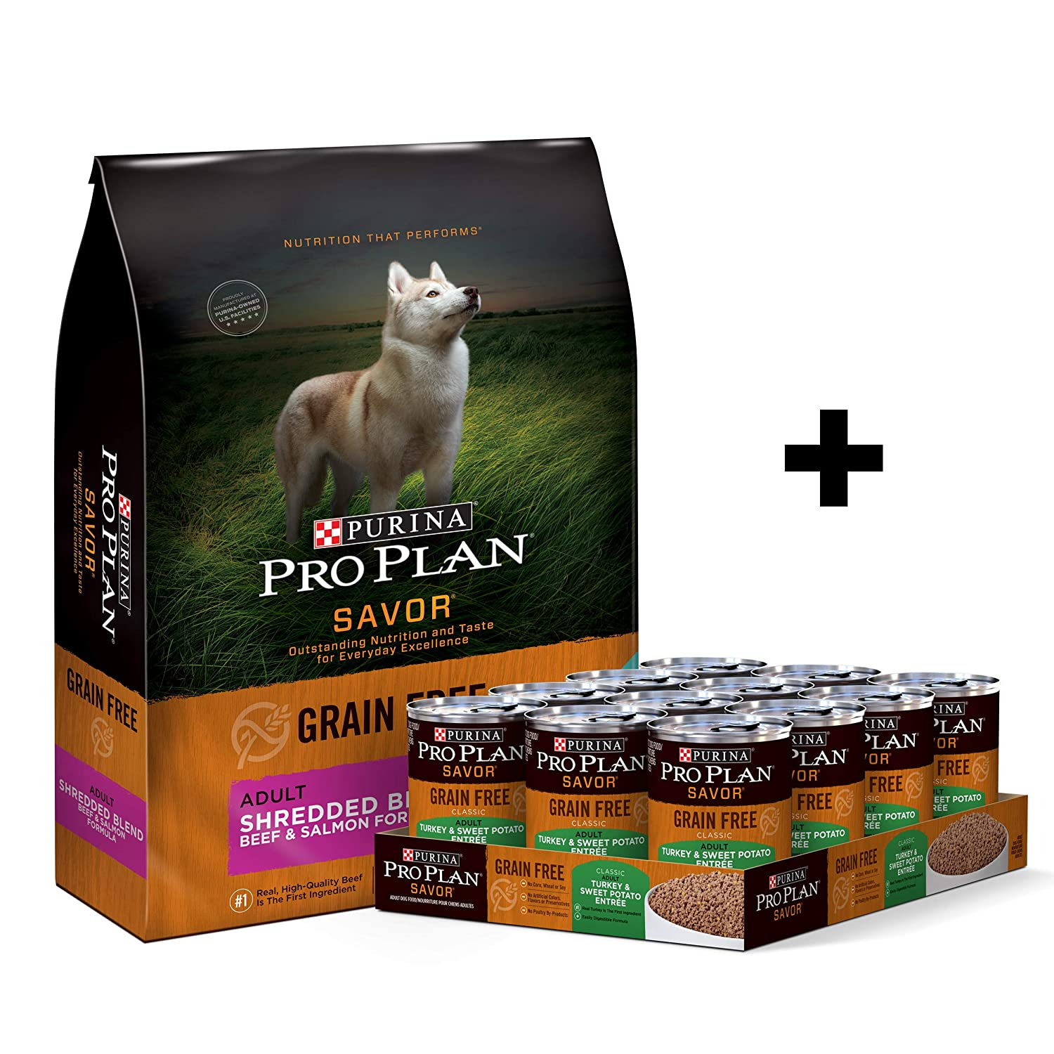 Purina Pro Plan SAVOR Grain-Free Shredded Blend Adult Dry Dog Food