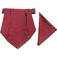 Classique Enterprises Men's Cravat with Pocket Square (Maroon, Standard)