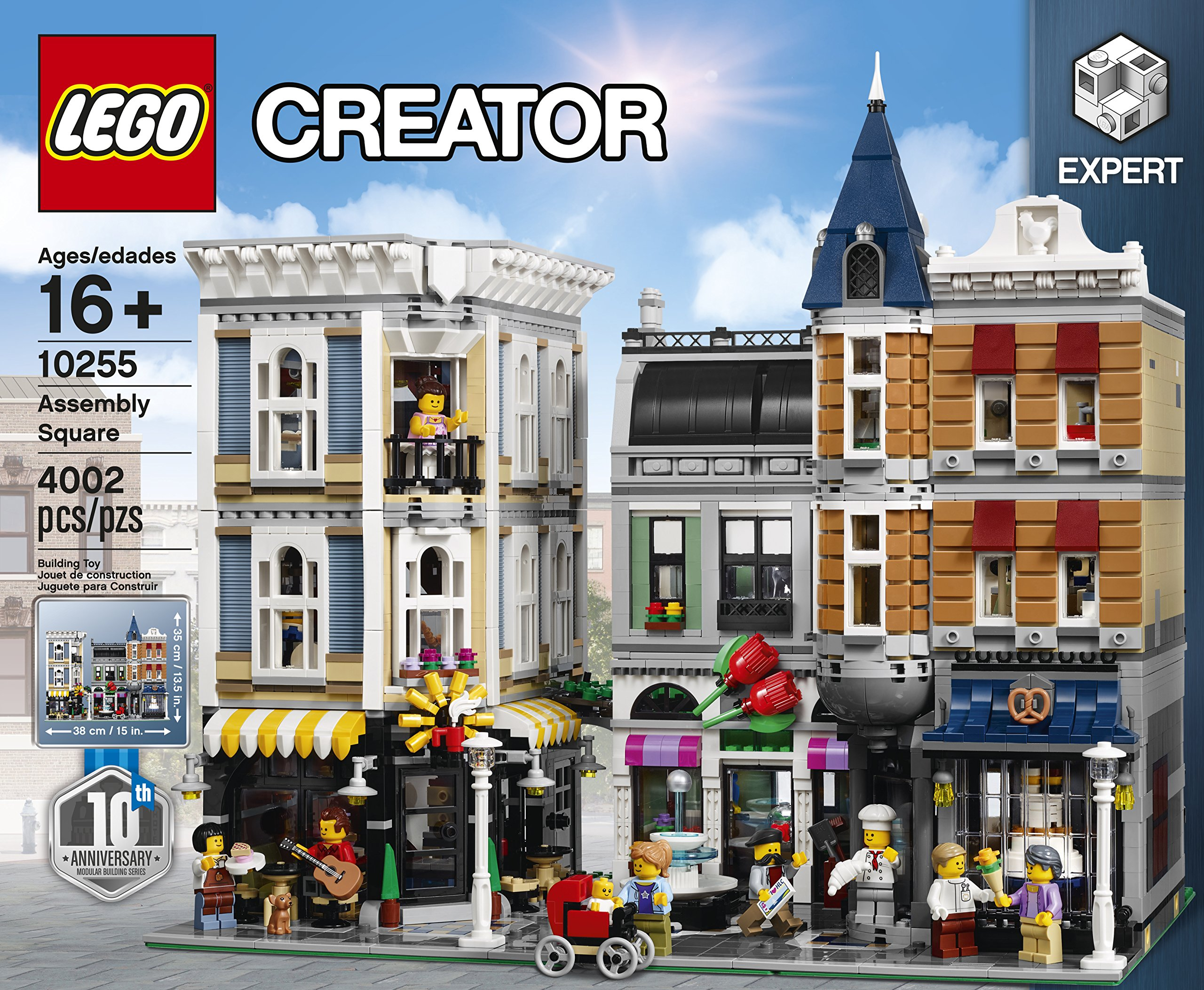 lego creator expert assembly square 10255 building kit ebay. Black Bedroom Furniture Sets. Home Design Ideas