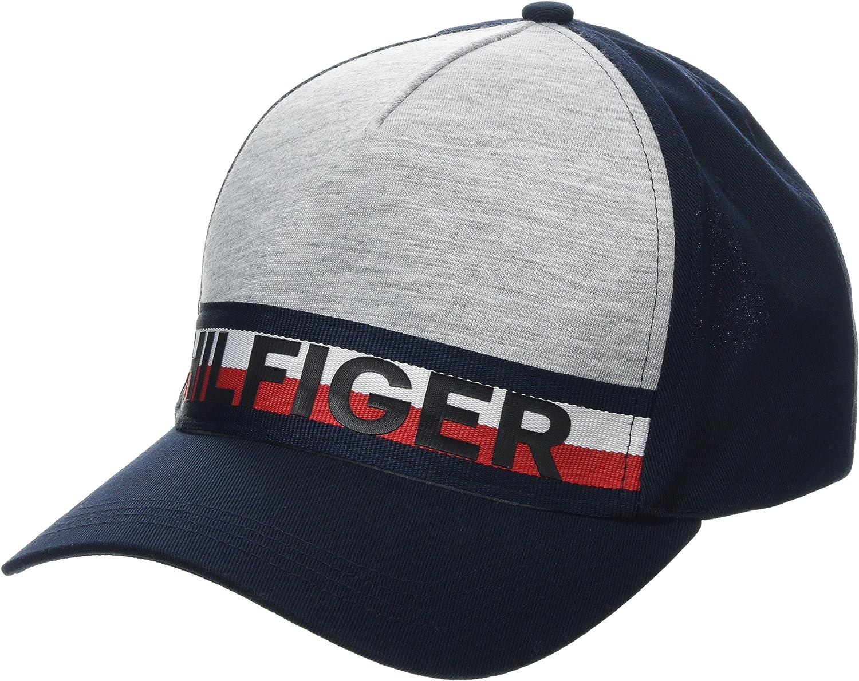 Tommy Hilfiger Stripe Gorra de béisbol, Gris (Lt Grey Htr 004 ...