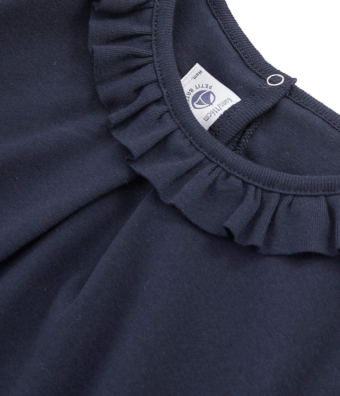 Petit Bateau Girls Navy Long-Sleeved T-Shirt Sizes 3-12 Style 49647