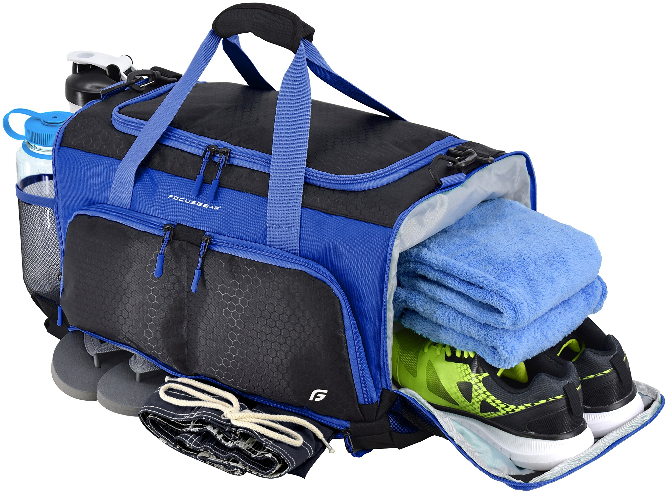 "FocusGear Ultimate Gym Bag: The Crowdsource Designed 20"" Duffel by"