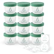 Sage Spoonfuls Big Batch Storage Set, 4 Ounce (Pack of 12)