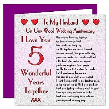 5 year wedding anniversary for husband