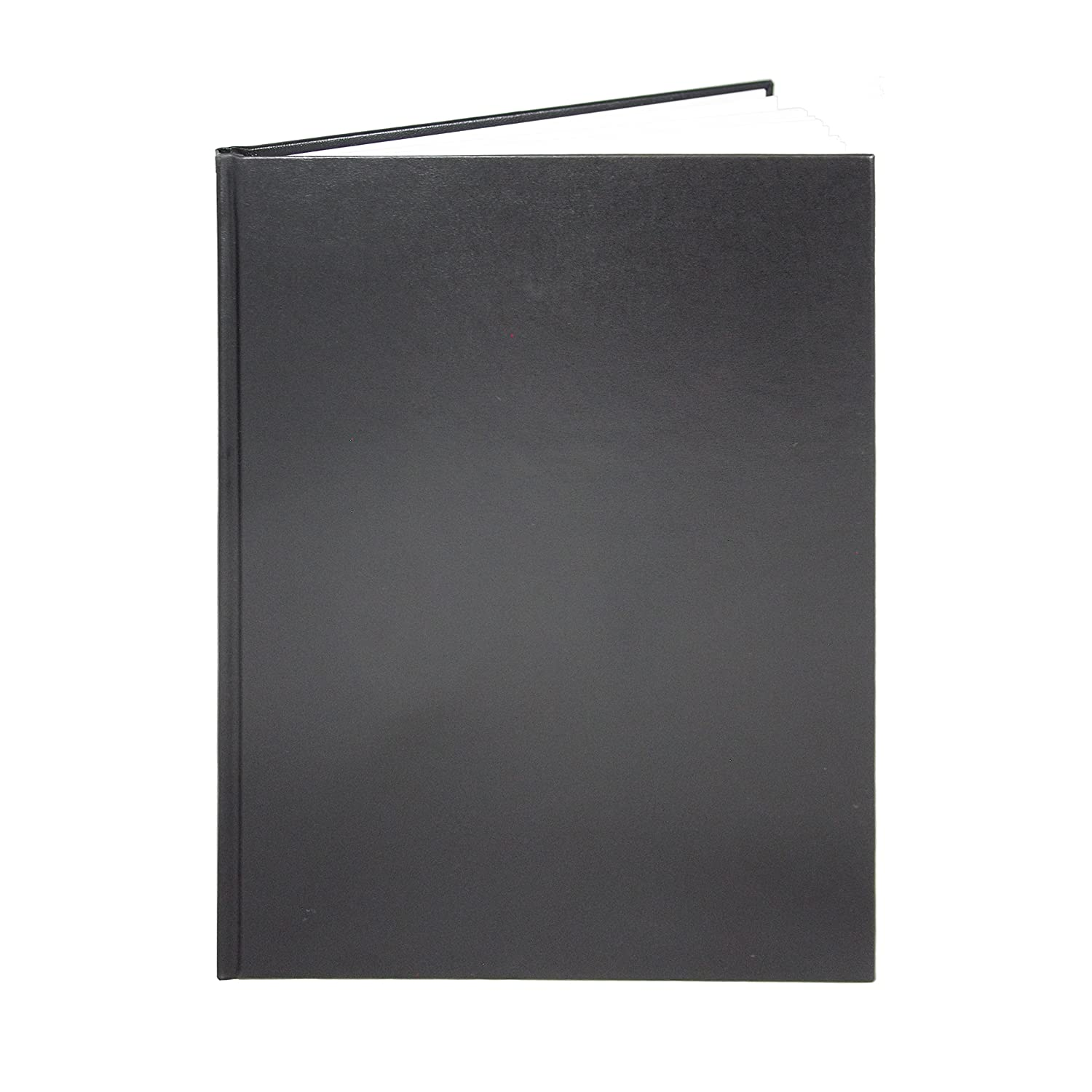 """Amazon.com : BookFactory Black Blank Notebook/Blank Book/Unruled Notebook -  96 Pages, Blank Format, 8"""" x 10"""", Black Cover, Smyth Sewn Hardbound ..."""