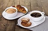 Set of 2 Soup Mug \u0026 Snack Tray  sc 1 st  Amazon UK & WHITE FINE CHINA SANDWICH SET/ MUG AND PLATE FREE UK DELIVERY ...