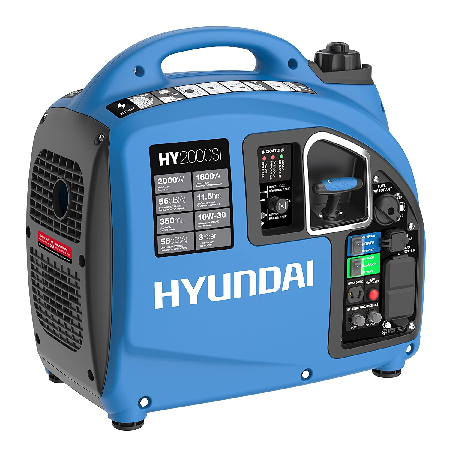 Amazon Hyundai HY2000si 2000 Running Watts 2200 Starting
