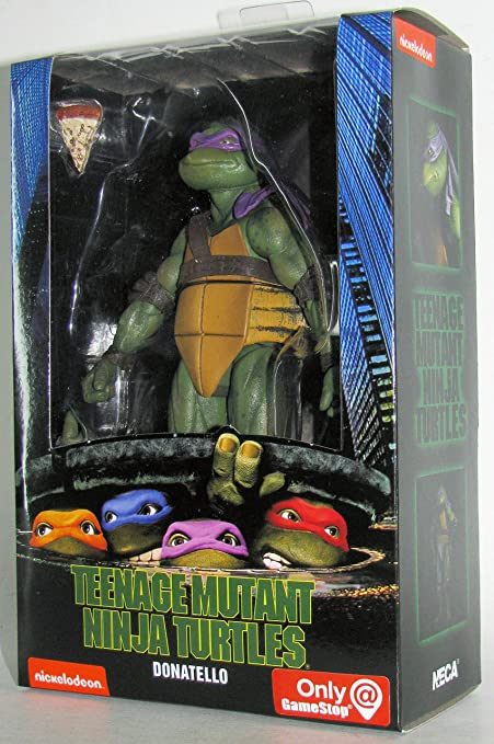 Teenage Mutant Ninja Turtles 90s Movie Donatello 6.5-inch Action Figure by NECA Reel Toys 2019 GameStop Exclusive