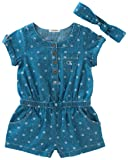 Calvin Klein Baby Girls Romper with Headband and
