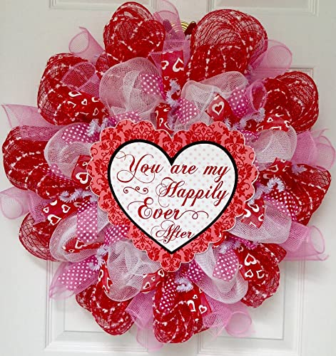 Valentines Day Deco Mesh Wreaths | Valentine\'s Day Wikii