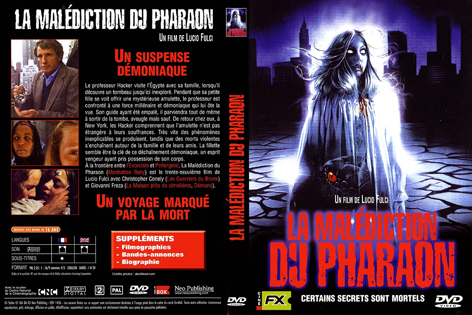 le film la malediction du pharaon