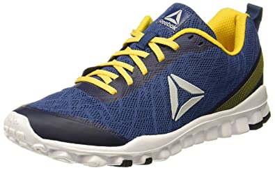 Reebok Men s Ultra Flex Run Blule Primal Yellow Running Shoes-10 UK India 748a08ebd