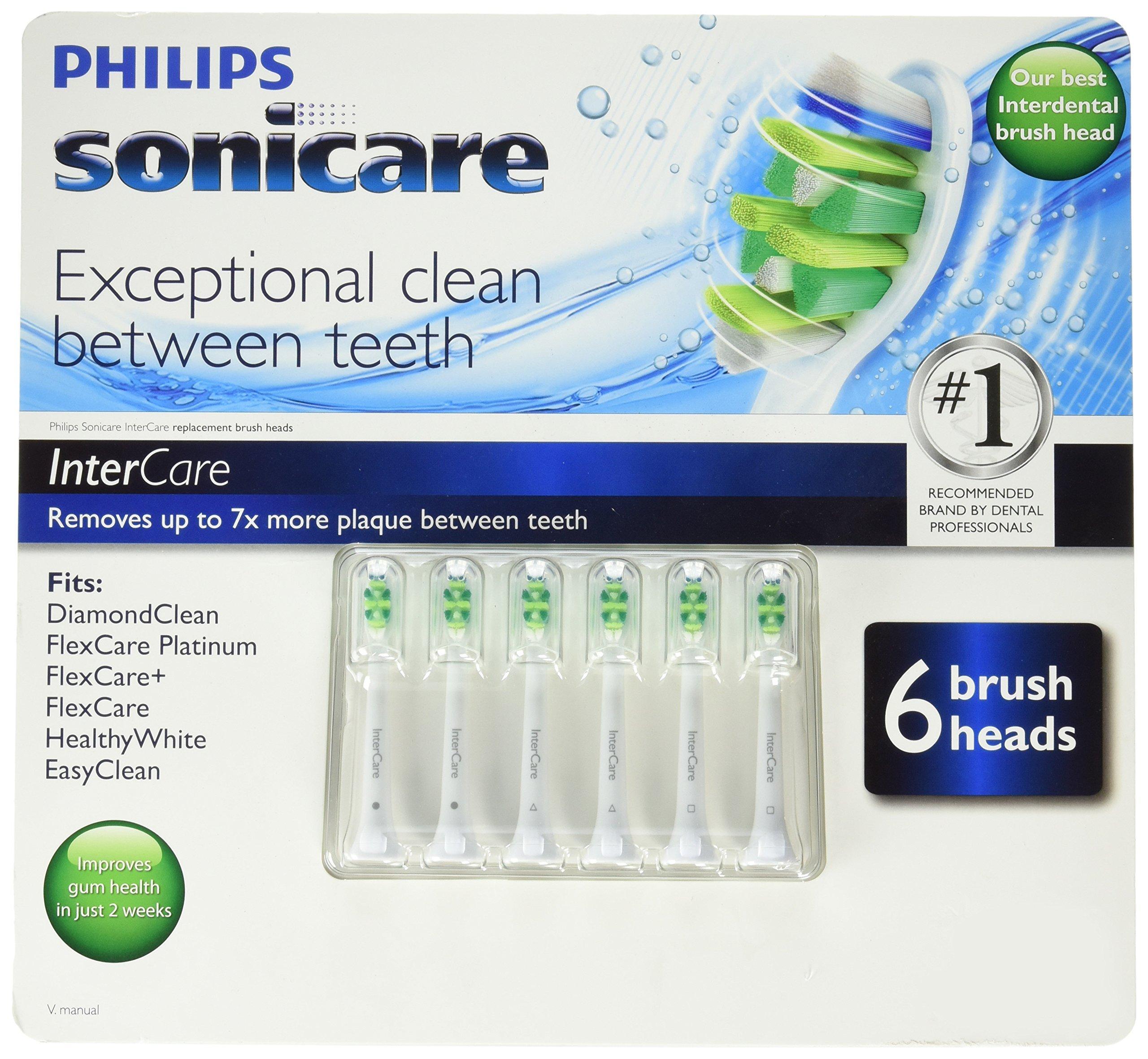 Philips Sonicare 1180 Intercare Brush Head, 6 Count