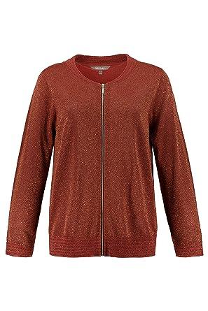 Fake-Leder Einsatz dunkelrot NEU ULLA POPKEN FASHION Sweatshirt