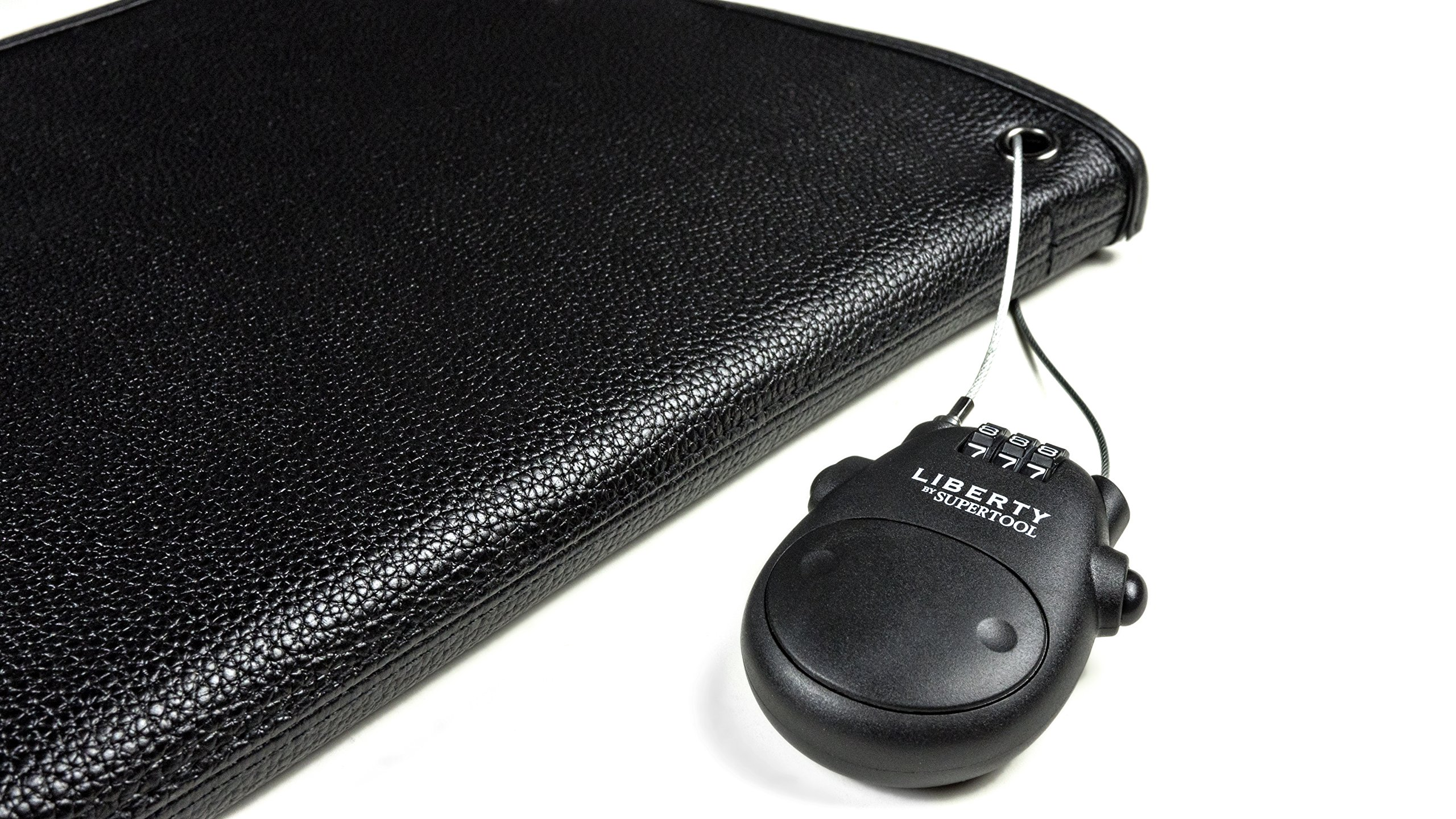 Liberty Safe Retractable Cable Lock, (Travel, Desk, Vehicle, Handgun Case, and More) by Liberty Safe (Image #1)