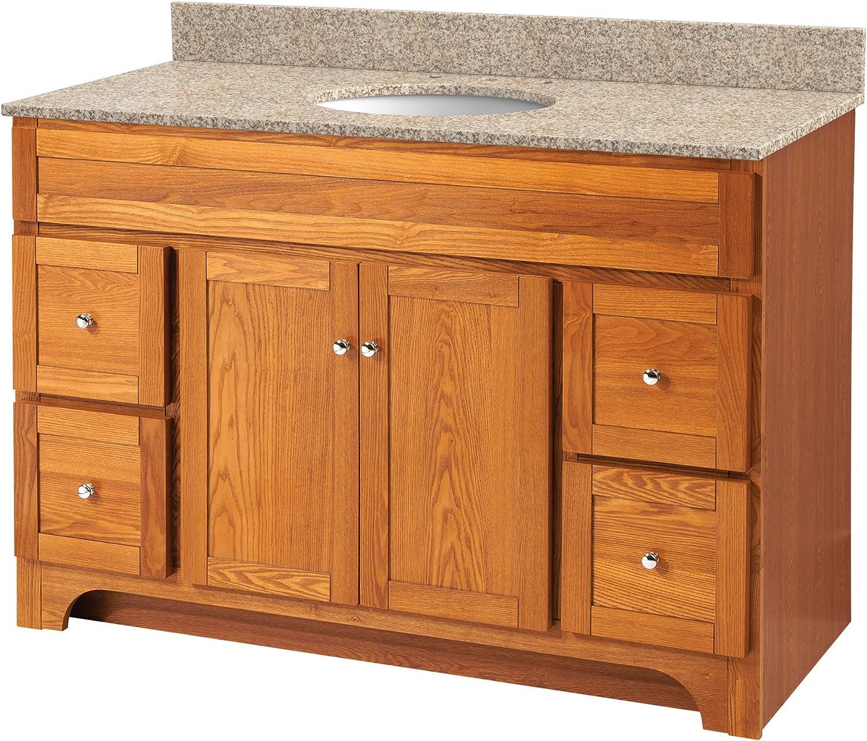 Foremost Wroa4821d Worthington 48 Inch Bathroom Vanity Oak Amazon Com