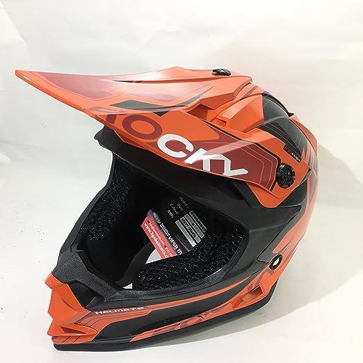 Amazon.es: 3GO XK188 ROCKY CASCO DE MOTO PARA NIÑOS Y NIÑAS MTB ATV DIRT ENDURO NARANJA CON GAFAS NEGRO (L (51 - 52 CM))