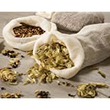 "Hops and Grain Muslin Steeping Bag - Cotton Mills Beer Brewing Bags 14"" (10 Count) - Microbrew, Homebrew Filtering Accessories - Boiling Bags For Tea, Cooking, Nut Milk, Soups - Hop and Grains Socks"