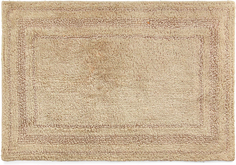 Chaps Home Camden 100% Ringspun Cotton Reversible Non-Slip Bathroom Rug, 17X24, Sand Dune