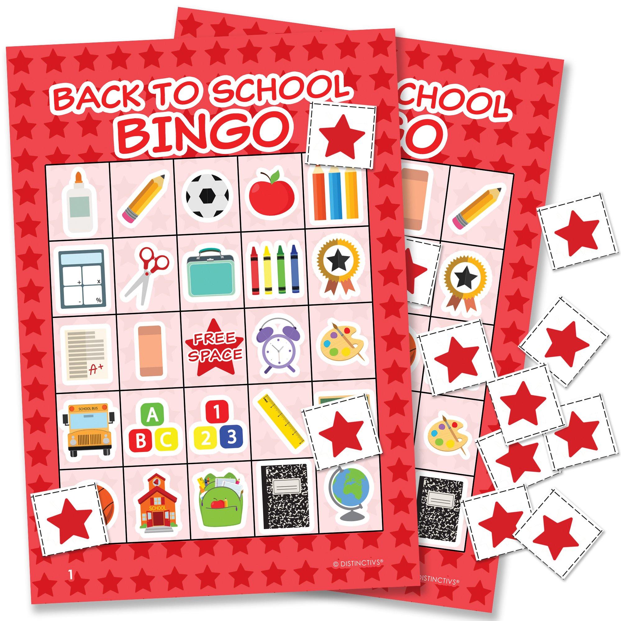 DISTINCTIVS Back to School Bingo - 24 Players by DISTINCTIVS