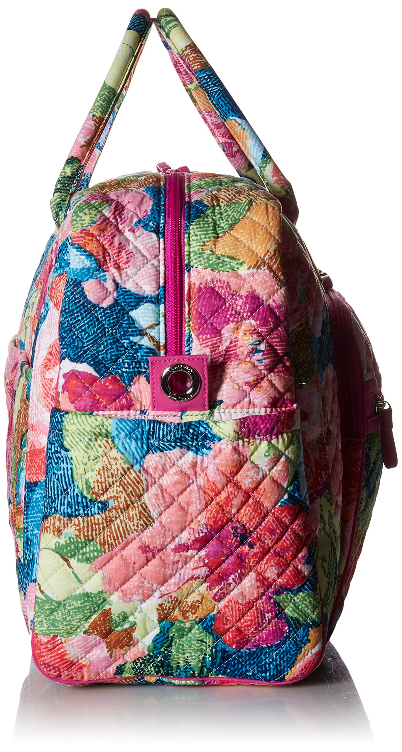Vera Bradley Iconic Weekender Travel Bag, Signature Cotton, Superbloom by Vera Bradley (Image #4)
