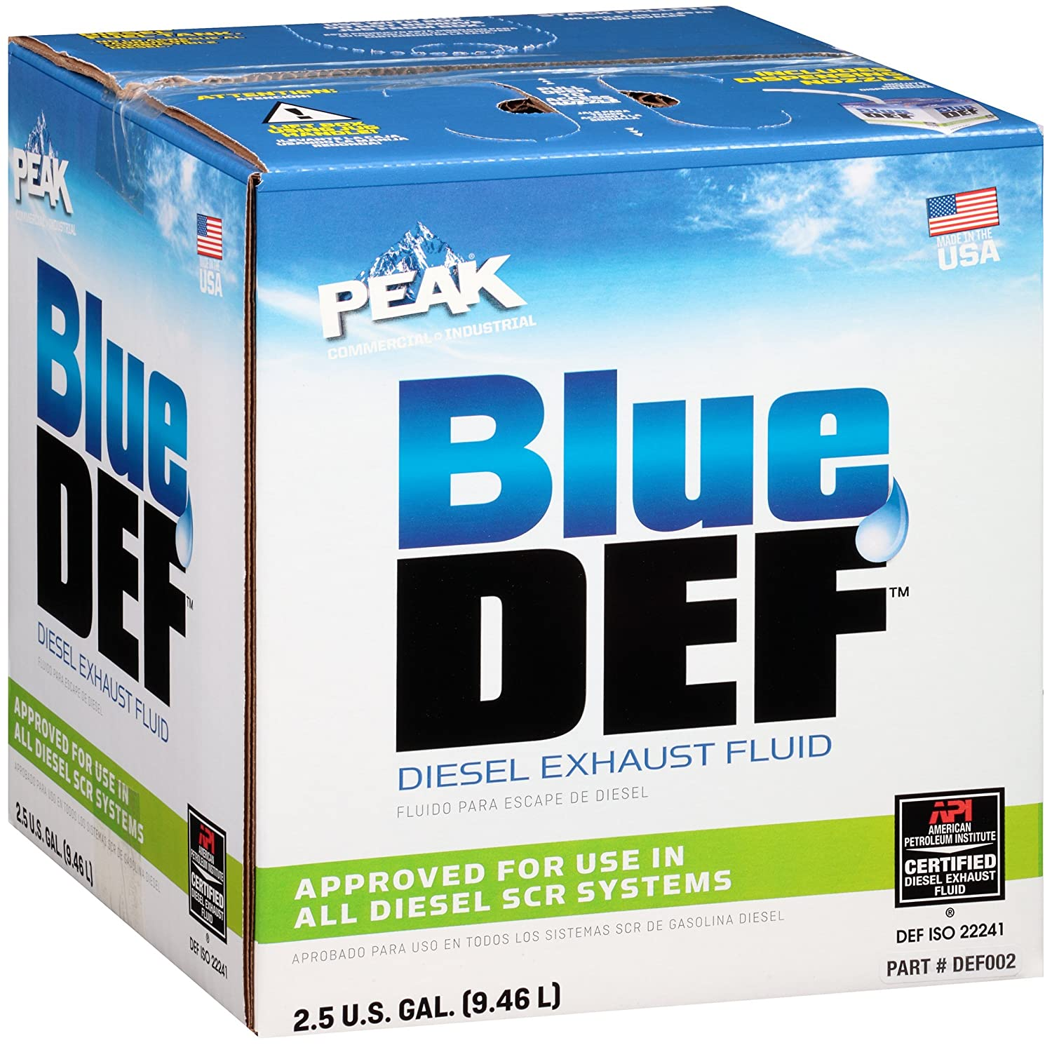 Diesel Exhaust Fluid >> Amazon Com Bluedef Def002 Diesel Exhaust Fluid 2 5 Gallon Jug