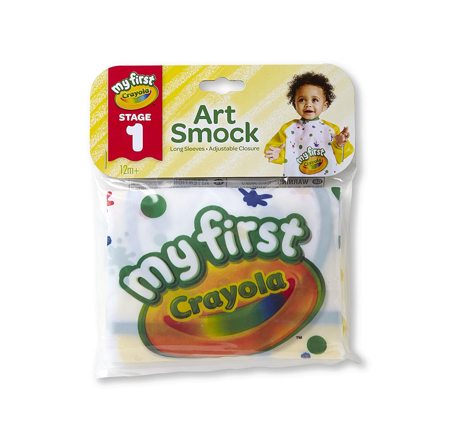 Crayola Art Smock for Toddlers, Painting Apron, Waterproof Bib, Age 12 Months and up Binney & Smith 81-1379