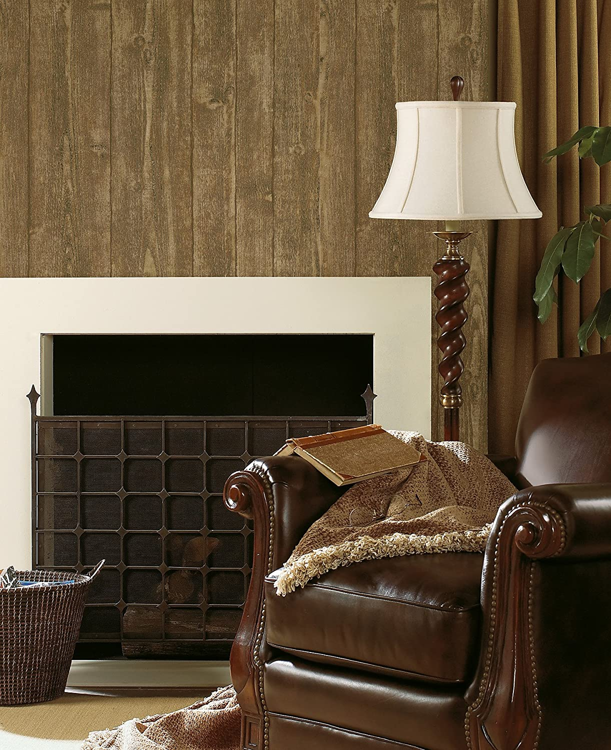 Textured Depth Wallpaper White Brewster Wallcovering--DROPSHIP Brewster 412-56909 20.5-Inch by 396-Inch Raised wood