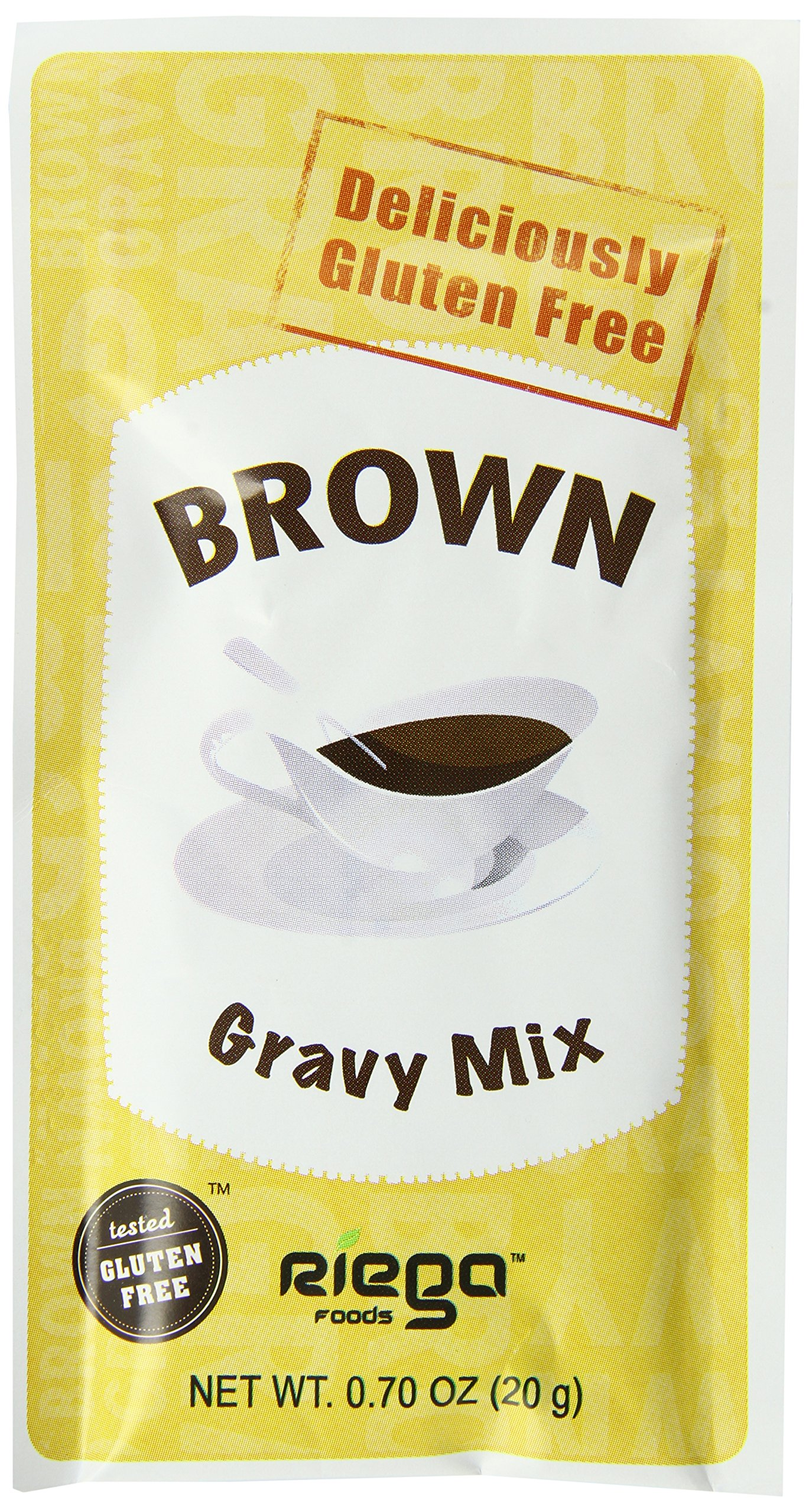 Riega Gluten Free Brown Gravy Mix, 0.70 Ounce (Pack of 8) by Riega