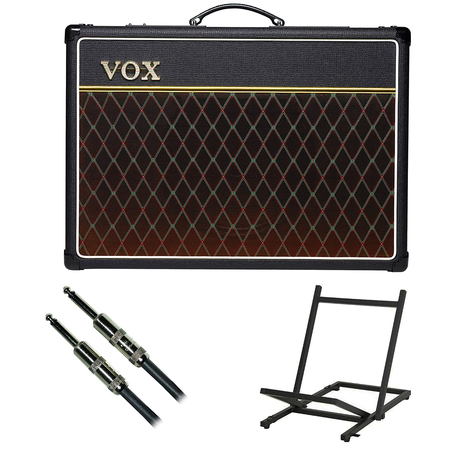 Vox Ac15c1 Guitar Combo Amplifier With On Stage Tilt Back Amp Stand