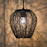 Homesake A897 Wire Mesh Hanging Pendant Light (Black)