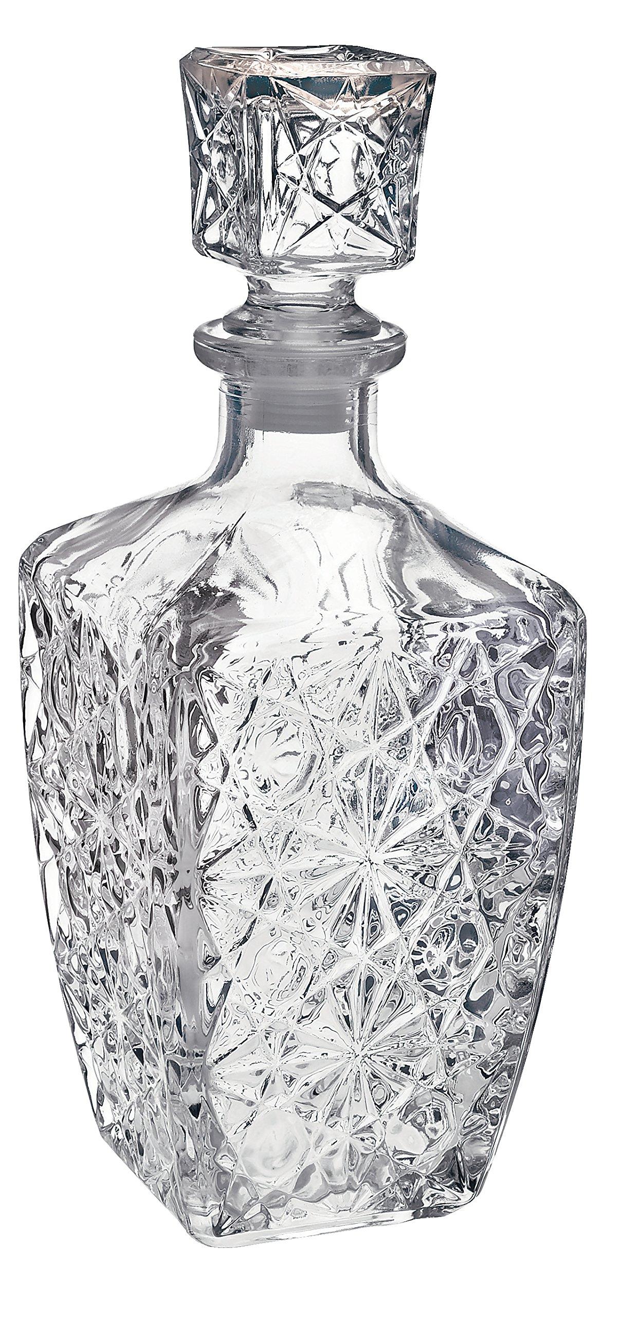 Bormioli Rocco Glass Decanter for Spirits, Dedalo (800ml/28oz)