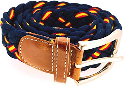 Cinturón Elástico Azul Marino Colores España Talla 105: Amazon.es: Joyería