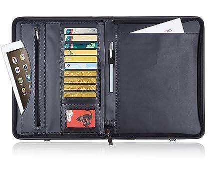 Amazon business portfolio padfolio binder premium pu leather business portfolio padfolio binder premium pu leather professional padfolio interview resume portfolio binder with secure colourmoves