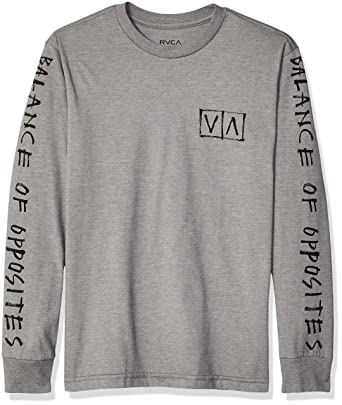 S Athletic RVCA Boys Big Balance Hands Crew Neck Sweatshirt