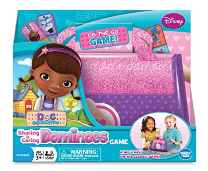 Amazoncom Disney Doc McStuffins Sharing Is Caring Dominoes Game - Doc games