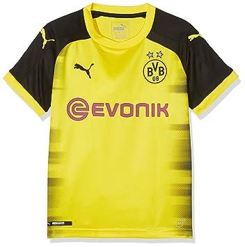 Puma BVB Replica, Camiseta Internacional del Borussia Dortmund para Niño, Amarillo (Cyber Yellow