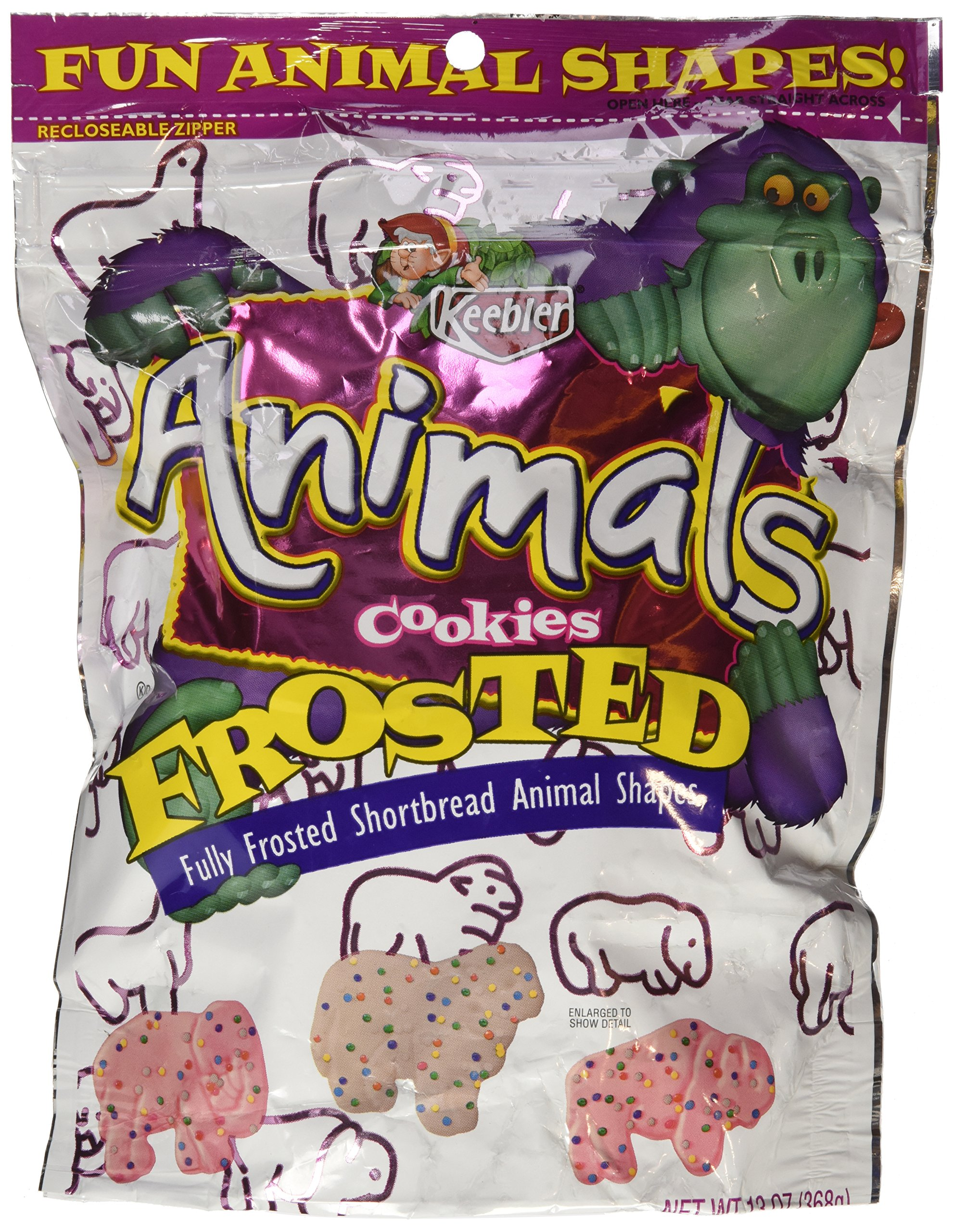 Keebler Frosted Animal Cookies, 13 oz (Pack 6)
